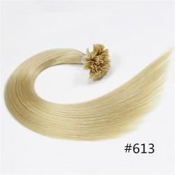 Extensions à la Kératine U Tip Cheveux Brésilien Lisse Blond