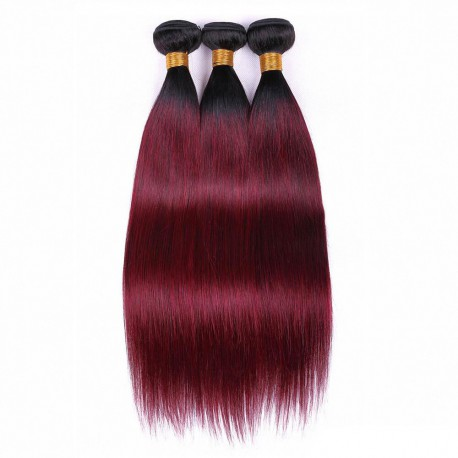 Tissage Ombre Hair Lisse 1B/99 J
