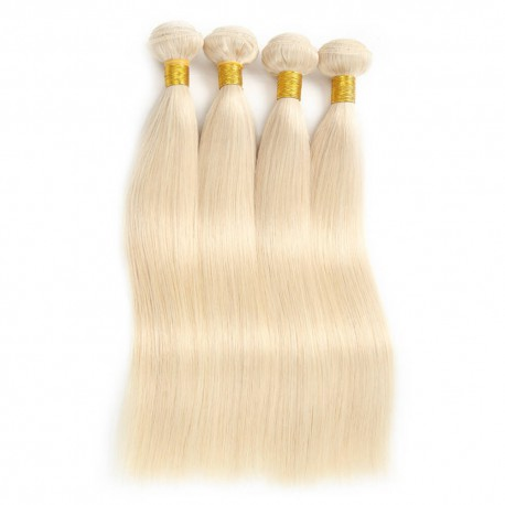 Tissage VIETNAMIEN Lisse Blond platine 613 Qualité EXCELLENCE