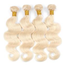 Tissage RUSSE ondulé Blond platine 613 Qualité EXCELLENCE